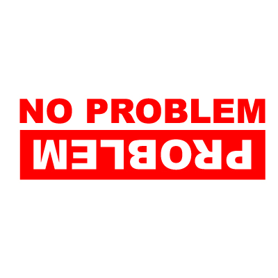 no problem problem 4x4 vinyl sticker blunt one affordable bespoke vinyl signs and. Black Bedroom Furniture Sets. Home Design Ideas
