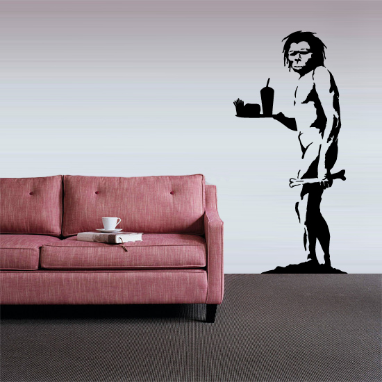 Banksy Apeman Vinyl Wall Art Sticker