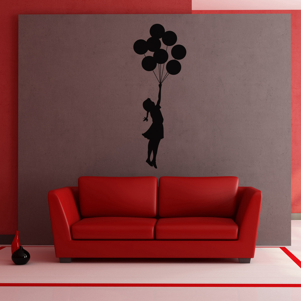 Banksy Balloon Girl Vinyl Wall Art Sticker