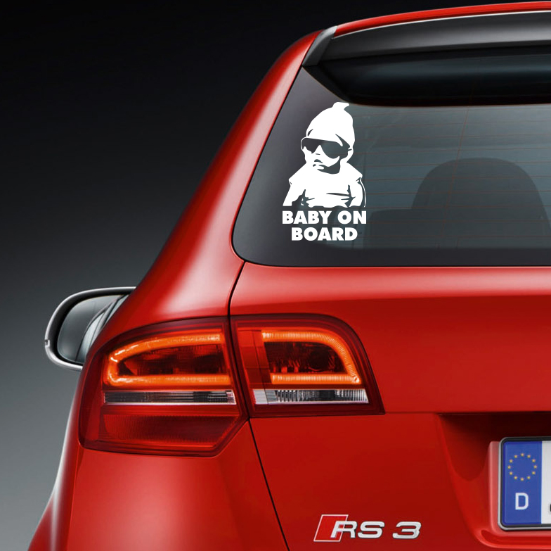 Cool Baby on Board Vinyl Sticker