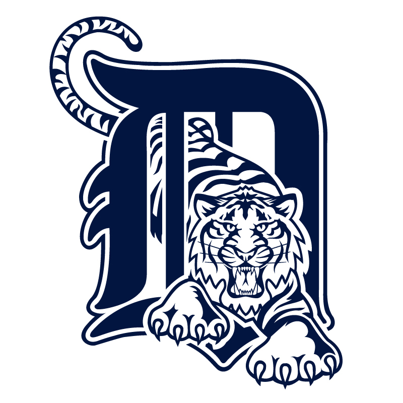 Detroit Tigers (with Tiger) Vinyl Sticker