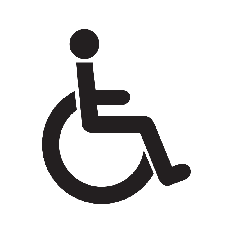 Disabled Toilet Vinyl Sign