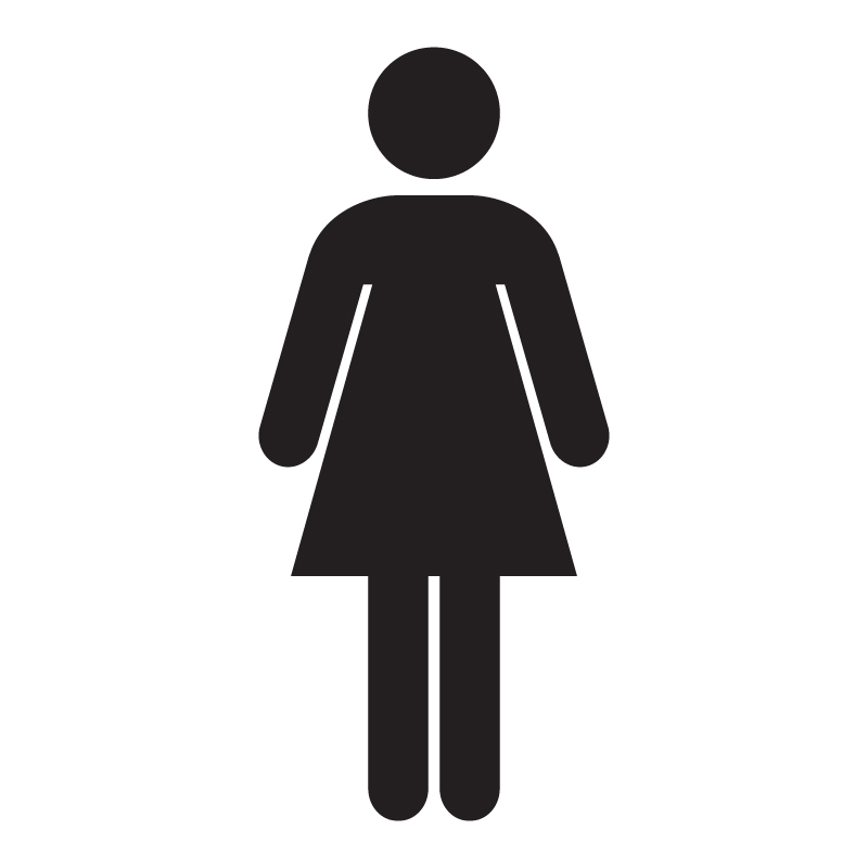 Female Toilet Vinyl Sign