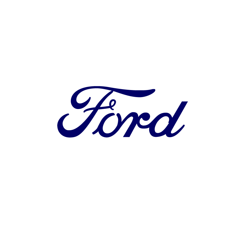 Ford text vinyl sticker blunt one affordable for Ford motor company phone number