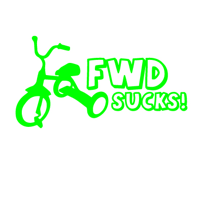 FWD Sucks Vinyl Sticker