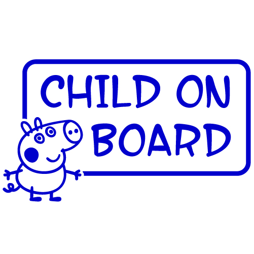 "George Pig ""Child on Board"" Vinyl Sticker"