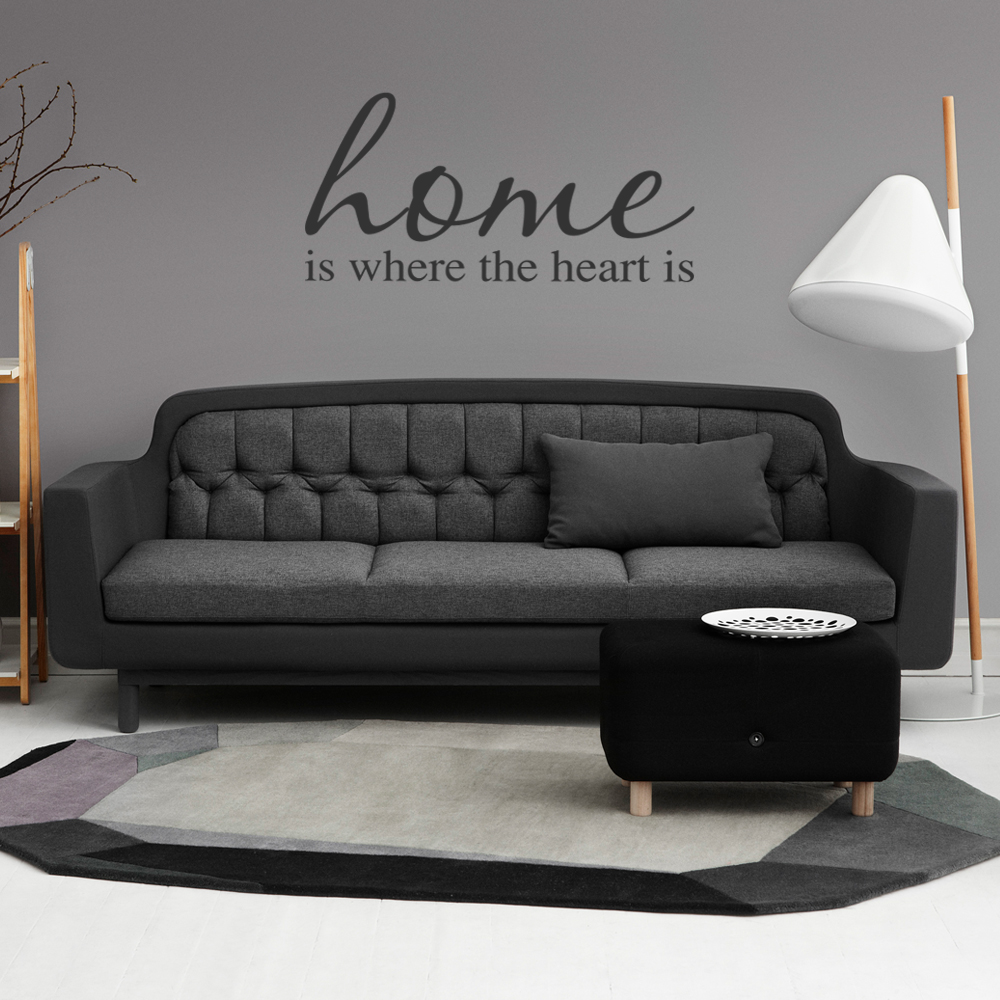 Home Is Where The Heart Is Vinyl Wall Art Sticker 163 3 99