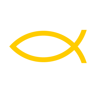 Ichthus Fish (Christian Symbol) Vinyl Sticker