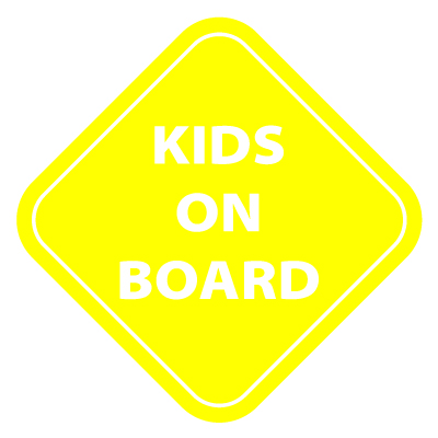 Kids on Board Vinyl Sticker