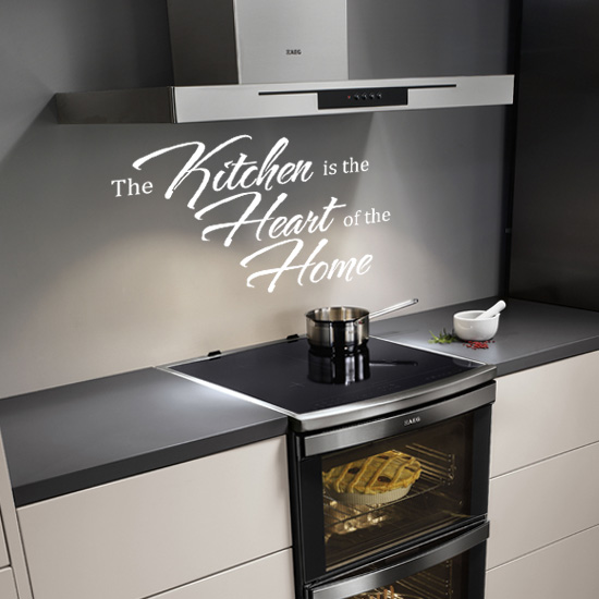 The Kitchen is the Heart of the Home Vinyl Wall Art Sticker