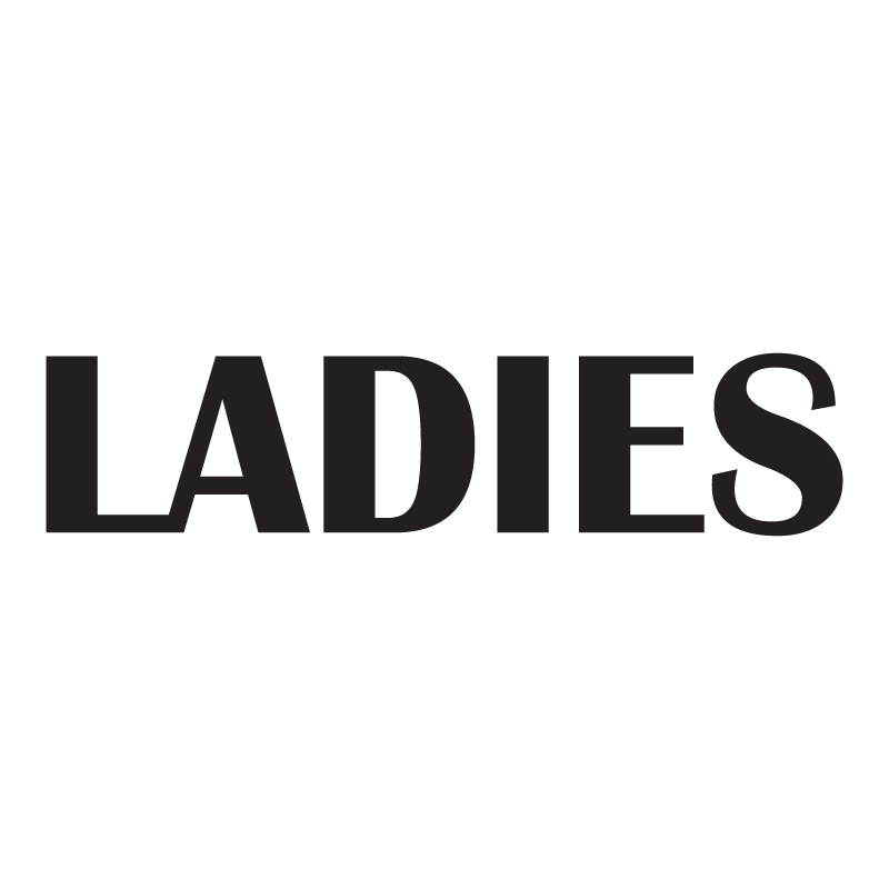 Ladies Bold Vinyl Toilet Sign