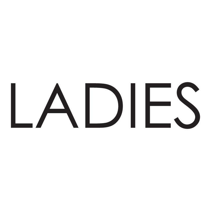 Ladies Modern Vinyl Toilet Sign