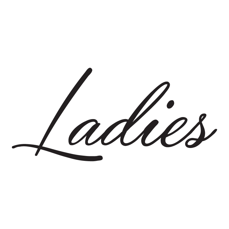 Ladies Script Vinyl Toilet Sign