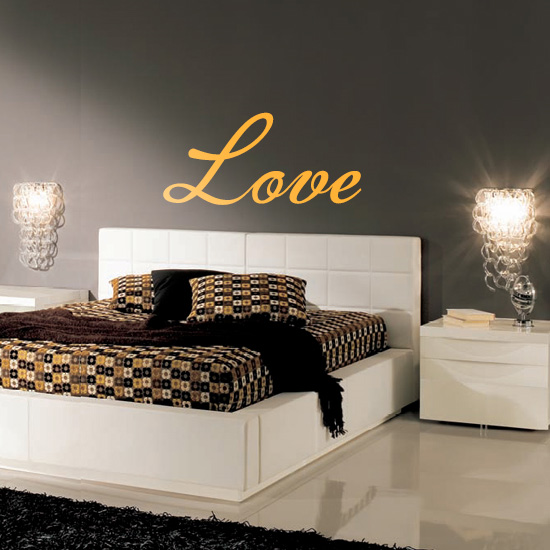 Love Bedroom Vinyl Wall Art Sticker