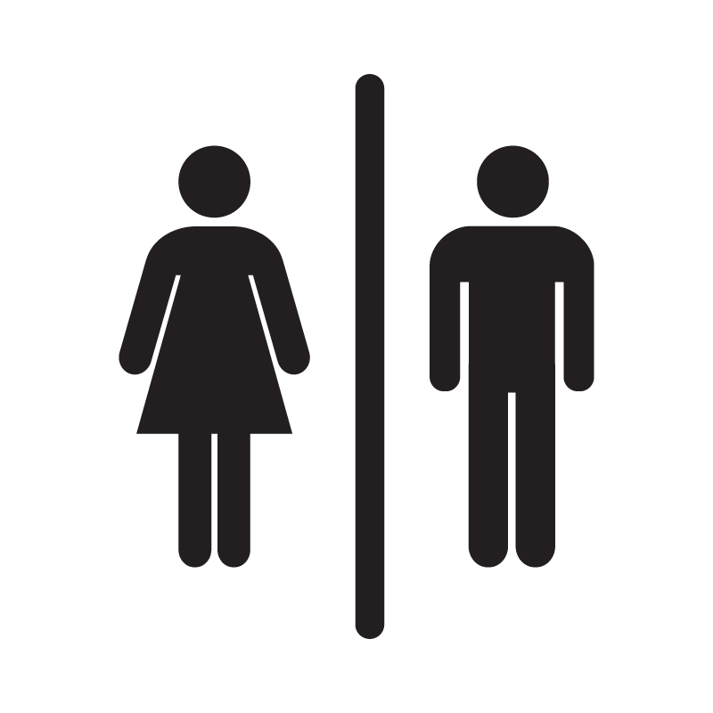 Male/Female Toilet Vinyl Sign