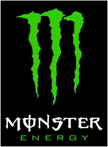 Monster energy vinyl sticker whitetext