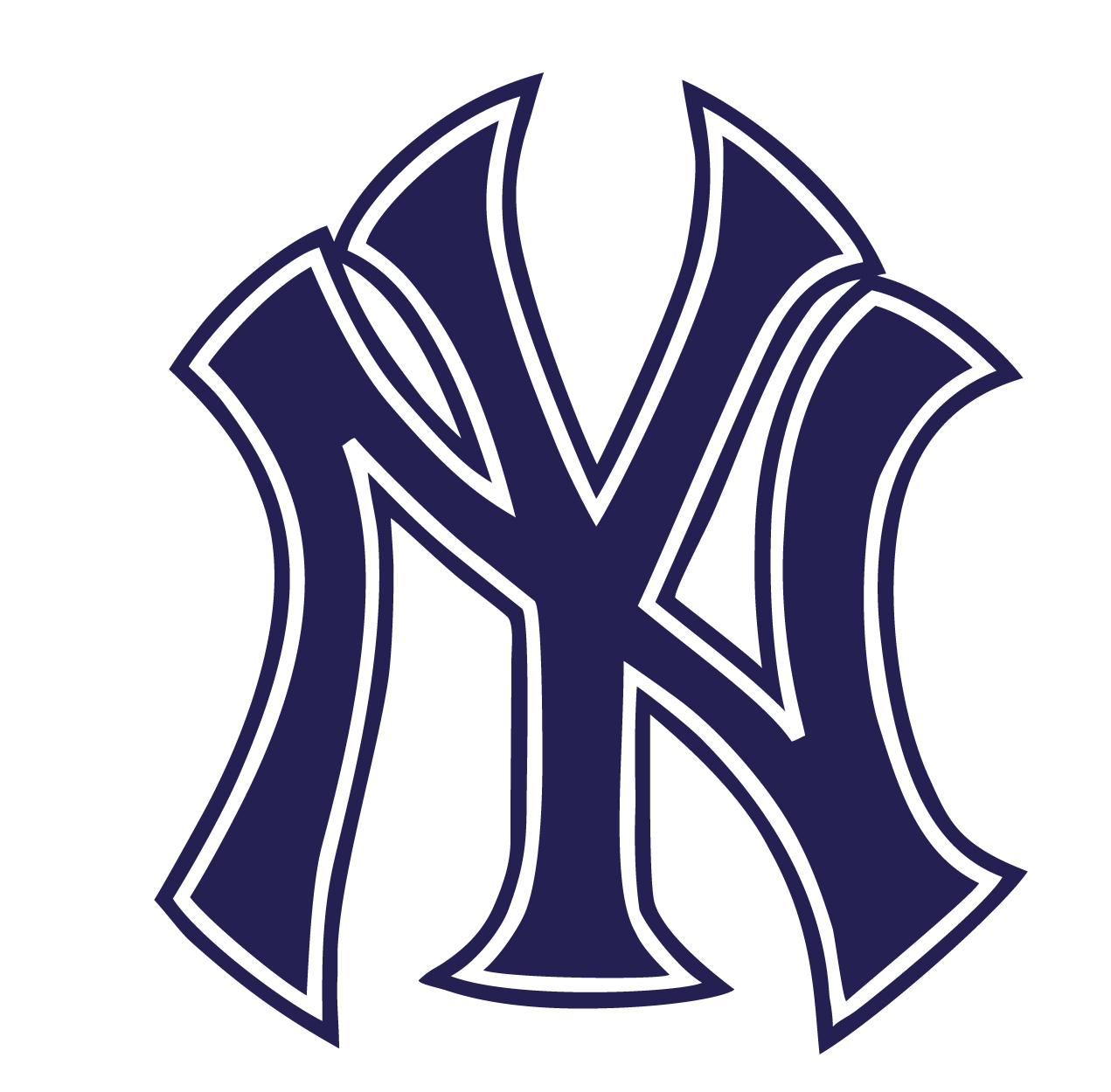New York Yankees Logo Outline Vinyl Sticker