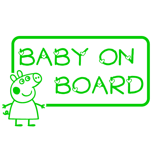 "Peppa Pig ""Baby on Board"" Vinyl Sticker"