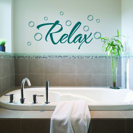 relax bathroom vinyl wall art sticker - £3.99 : blunt.one