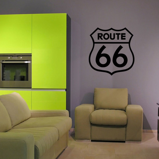 Route 66 Living Room Vinyl Wall Art Sticker