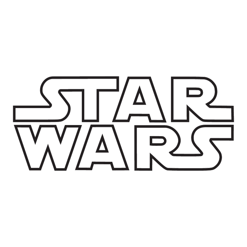 Star wars logo outline sticker