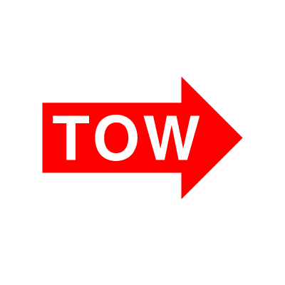 Tow Arrow Vinyl Sticker