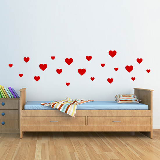 Vinyl Wall Art Heart Stickers