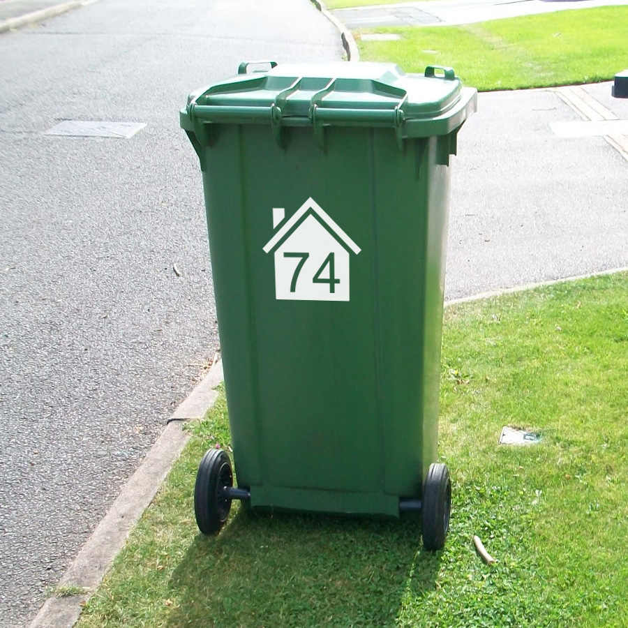 Wheelie Bin Numbers House 163 1 75 Blunt One