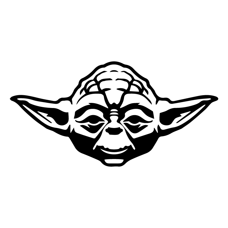 yoda sticker - £1.99 : blunt.one, affordable bespoke vinyl signs